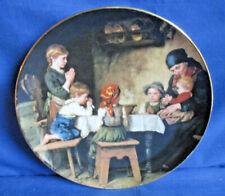 Bradex Teller 1988 Das Tischgebet von Defregger, Lilien Porzellan, weiterer