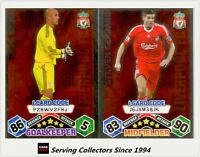2009-10 Match Attax Card Game I-Card Foil LIVERPOOL FC Reina / Gerrard (2)