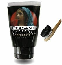 Activated Charcoal Toothpaste for Natural Teeth Whitening with Essential Oil