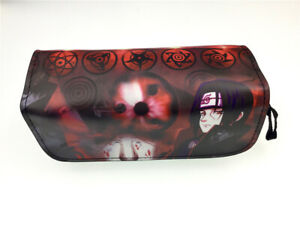 Anime Uzumaki Naruto leather pu Stationery Women's Storage Bag Cosmetic Pen Bag