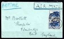 South Africa 1936 3d Bilingual pair on cover to UK WS10140