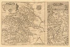 """Sont gionis Biturigum"""" & """"limaniae topographia"""". berry/auvergne. ortelius carte de 1570"""