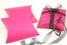 12x Fuchsia Pillow Wedding Favour Jewellery Gift Box 73x75mm