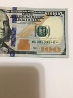 *.2013 $100 US FRN Star Note # MG00503240 Chicago Note 640,000 Run