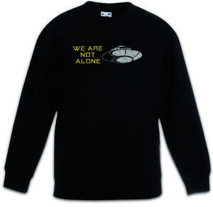 WE ARE NOT ALONE Kids Boys Girls Pullover Fargo Ufo Alien Symbol Flying Saucers
