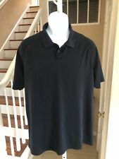 NWOT Rhone Delta Pique Short Sleeve Polo Shirt Golf Jet Black L
