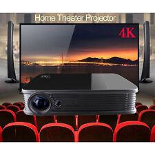 Android5.1 Quad Core  Mini Home Theater 3D DLP 4K Projector UHD HDMI LED 1080P