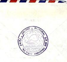 Cm223 Zaire Missionary Mail Forwarded Belgium 1990 *Mbujimaya* Cachet Cover Miva