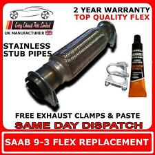 saab 9-3 exhaust flexi flex repair pipe 1.8t - 2.0t - 2.2tid stainless steel