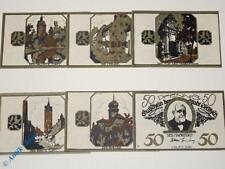 6 x Notgeld Delitzsch , german emergency money , M/G 262.1 , 6 Scheine kfr/unc