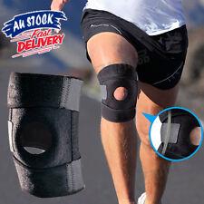 Adjustable Elastic Knee Brace Fastener Patella Support Gym Black Relief Strap