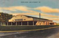 Camp Atterbury~Edinburgh IN Carl Weaver Soldier Mail~WWII Sports Arena Linen