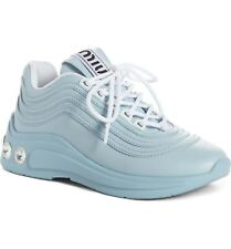 New Auth. Miu Miu Crystal Heel Patfrom Sneaker  Eur 37.5/US 7.5 $850