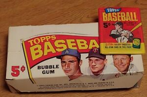 Rare 1965 TOPPS Mint Baseball Cards Original Pack of 5 W/Bonus Gold Embossed 6F