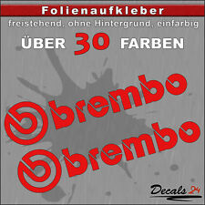 2er SET - BREMBO Sponsoren-Folienaufkleber Auto/Motorrad - 30 Farben - 8cm