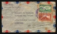 1941 Oficial Venezuela to Uruguay Air mail cover w/ handstamp Montevideo WWII