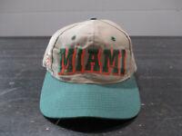 VINTAGE Miami Hurricanes Hat Cap Brown Green Snap Back UM Football Mens 90s