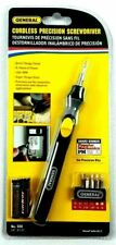 general cordless precision screwdriver wireless power