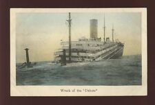 Japan USA Shipping Wreck disaster of the GNSC DAKOTA  c1907 PPC view from bow