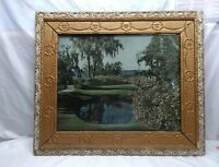 VINTAGE 27x23 HAND CARVED GOLD GILT PICTURE FRAME FITS 20X15 ART