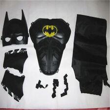 Halloween Children Cosplay Batman Party Mask Cloak Wristbands Breastplate Suits