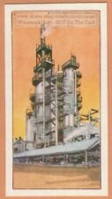 Petroleum Oil  Hydrocarbon Cracking Plant Vintage Trade Ad Card