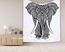 Große indischer Elefant Tagesdecken Mandala Wandhängen Tapisserie Bettüberwurf