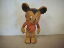 """MICKEY MOUSE VINTAGE 8"""" SQUEEZE SQUEAK TOY VINYL FIGURE by SUN RUBBER CO"""