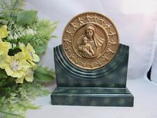 Vtg plastic souvenir sculpture.Missionary Oblates.Mary Lady of Snow Shrine
