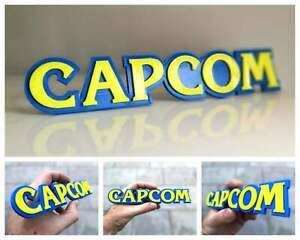 Capcom 3D logo / shelf display / fridge magnet - gaming collectible