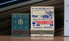Vintage Matchbook Lot N5 Whittier California Truckmaster Trucking Seattle Magnin