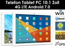 64GB 10.1 Zoll Telefon Tablet PC Android 7.0 Dual SIM/Kamera GPS LTE,4G,WIFI,HD
