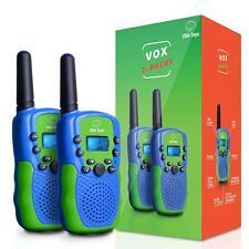 Walkie Talkies for Kids - (Vox Box) Voice Activated Toy 2+ Mile Range, FlashLite