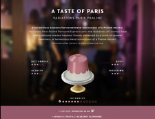 LIMITED EDITION 2018 : 50 x Paris Variations PRALINE Nespresso Coffee Capsules.