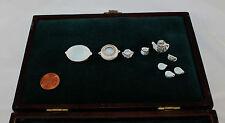 Antique Eggshell China Mini Doll Dinnerware Set 10 Pc Tea Pot Tureen Creamer Cup