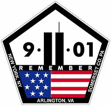 "V2 Remember 9 11 Memorial Sticker Decal 3.5"" x 3.5"" World Trade Center Version 2"