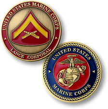 Marine Corps LCpl Challenge Coin Lance Corporal E-3 Rank United States USMC US