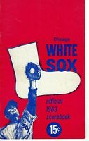 1963 baseball program, Chicago White Sox vs. Baltimore Orioles, unscored VG