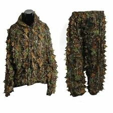 3D Leaf Adults Ghillie Suit Woodland Camo/Camouflage Hunting Deer Stalking G1F5