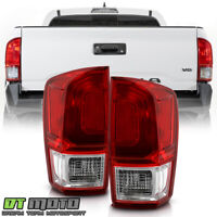 For 2016-2020 Toyota Tacoma Red Clear Tail Lights Brake Lamps Pair Left+Right