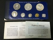 Philippines 1978 Franklin Mint Silver Proof Coin Set w/ Box & COA (Lot G)