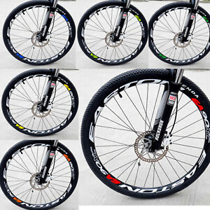 1PC Race Sport MTB Bike Motorbike Wheel Decal Sticker Bicycle Set Rim Reflective