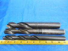 """New listing Lot Of 3 Hss Twist Drill Bits 13/16 , 1"""" , 1 13/64 .8125 1.0 1.203125 Usa Made"""