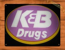 "TIN-UPS TIN Sign ""K And B Drugs"" Vintage Shop Beer Store New Orleans"