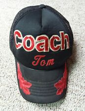 Vintage Coach Tom Trucker Snap Back Cap Personalized Distressed Embroidered Hat