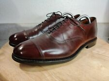Allen Edmonds Burgundy Park Avenue Cap Toe Oxfords US 10D Excellent Condition