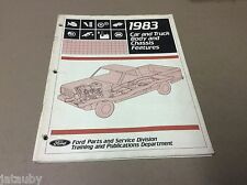 FORD 1983 CAR AND TRUCK BODY AND CHASSIS FEATURES MANUAL