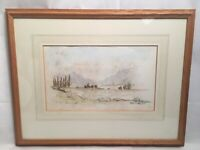Lord Thorneycroft Watercolour Painting Signed Mounted And Framed
