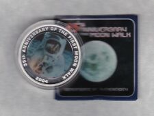 In scatola 2004 Australia ARGENTO PROOF uno oncia MONETA prima Moon Walk