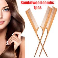 Hair Comb Natural Sandalwood Handle Detangling Styling Hairdressing Com US